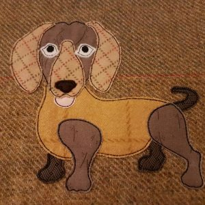 Dachshund applique