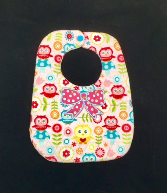 Ith Baby Bib Pattern With Appliqu 233 Bow Amp Diamond Quilting