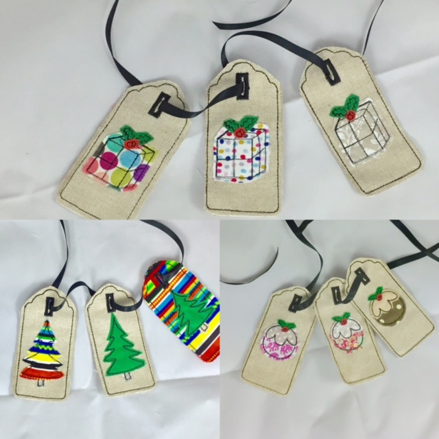 400x400 In The Hoop Christmas Gift Tags Machine Embroidery Pattern Awesome Machine Embroidery Patterns