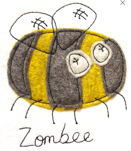 Bee Machine Embroidery Pattern Pixie Willow Patterns