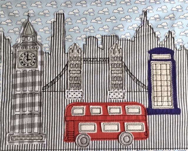 Ith london project raw edge applique machine embroidery