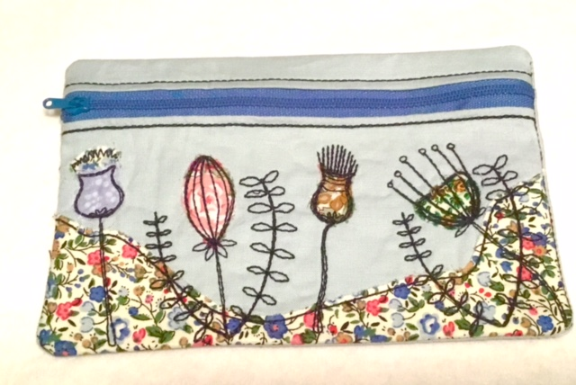 Beach Scene Zip Bag from Pixie Willow Patterns