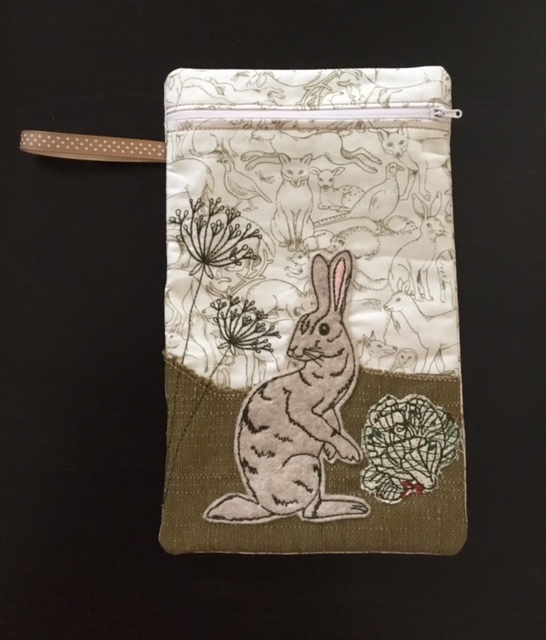 Hare Zipper by Pixie Willow Zipper