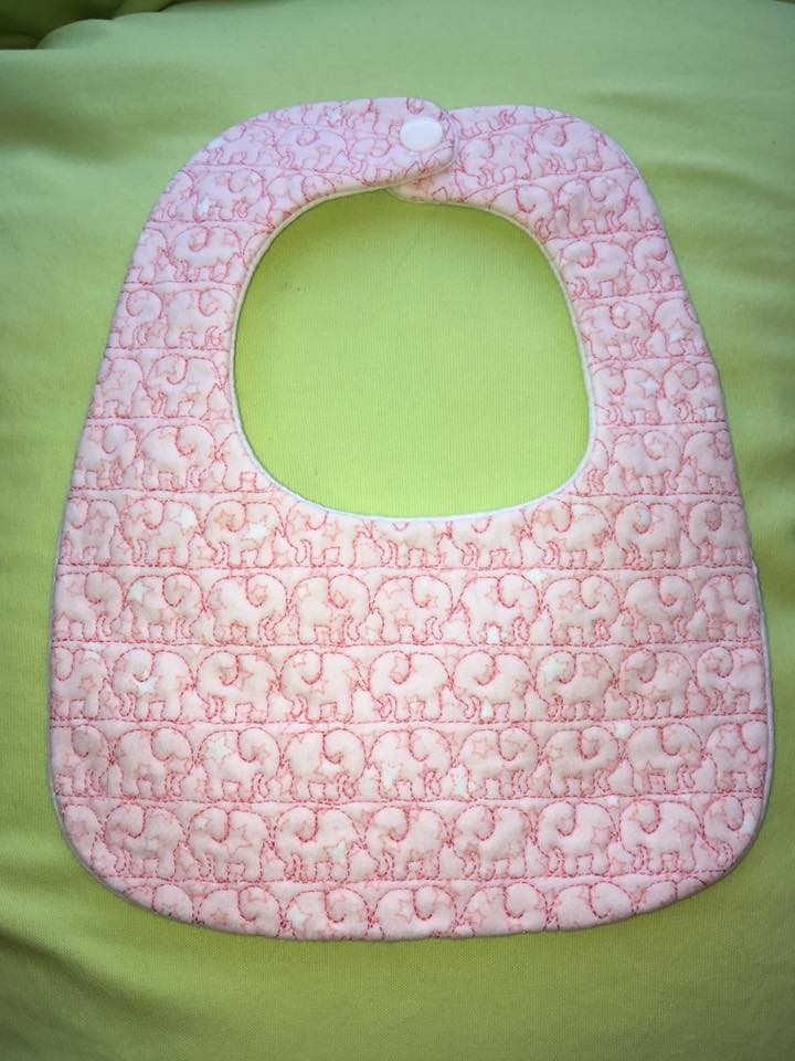 Ith Baby Bib Very Easy Elephant Pattern 6x10 Amp 8x10 Ith